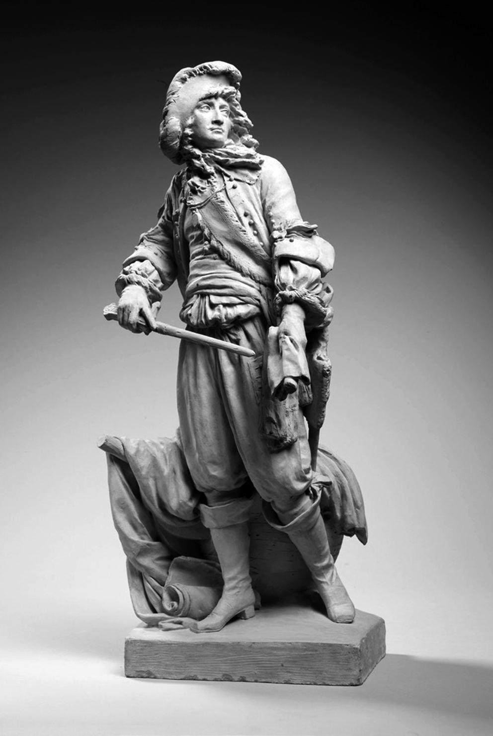 Abb.4: Jean-Antoine Houdon (1741–1828), Anne Hilarion de Cotentin, comte de Tourville, maréchal de France (1642–1701), Terrakotta, 1784, 52,5 cm x 23,3 cm x 26 cm, MNC 23450 [RMN-Grand Palais (Sèvres - Cité de la céramique)/Thierry Ollivier].